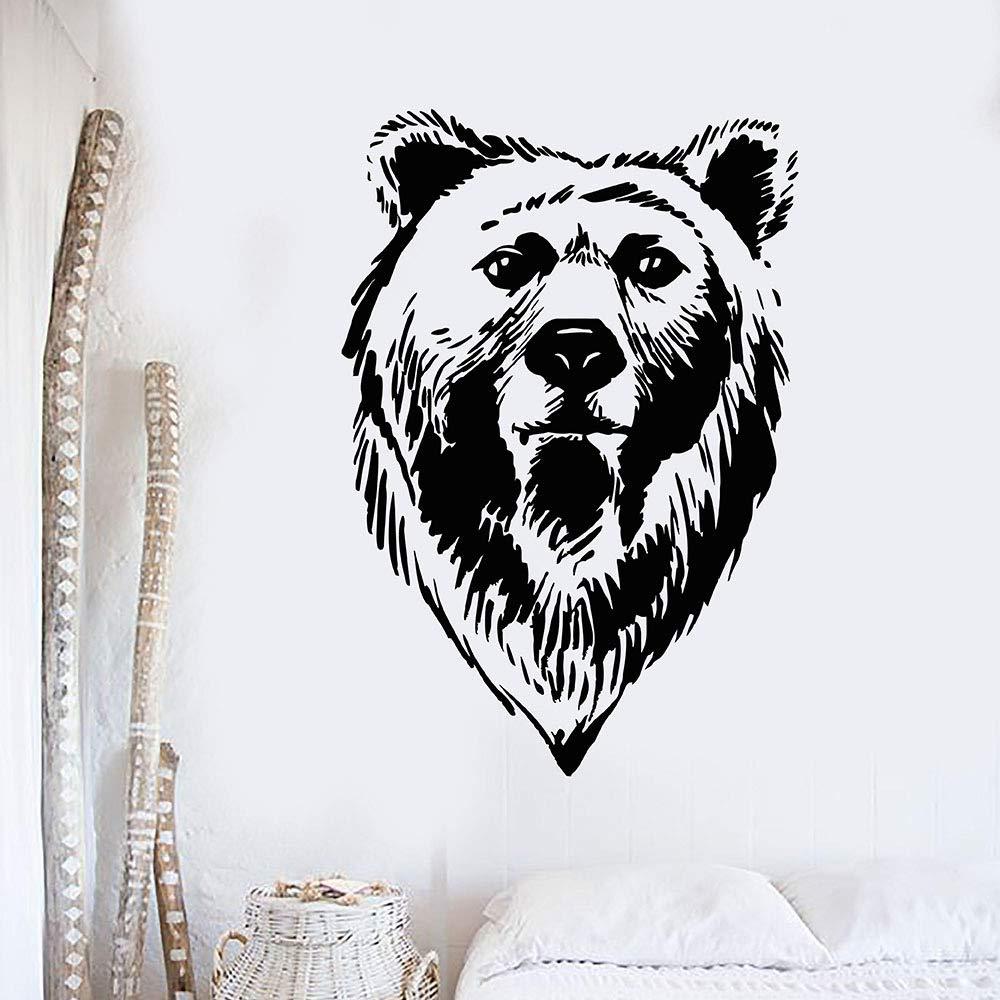 woyaofal Cabeza de Oso Grizzly Tribal Predator Animal Vinilo ...