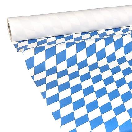 Damast-Tischtuch Papiertischtuch blau 100 cm x 50 m