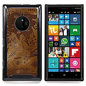 Ancien World Map Caja protectora de pl??stico duro Dise?¡Àado King Case For Nokia Lumia 830
