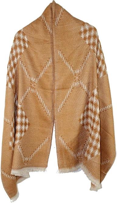 TALLA 135-175CM. AiNaMei Bufanda de tela escocesa de otoño e invierno cálida para hombre y mujer