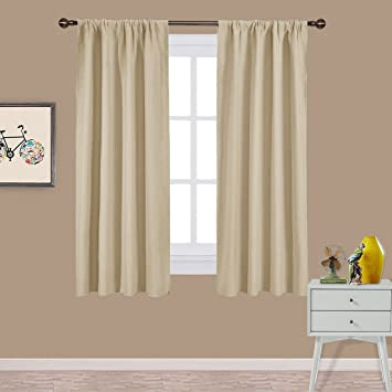 NICETOWN Room Darkening Curtains For Bedroom   Triple Weave Home Decoration  Thermal Insulated Solid Drapes /