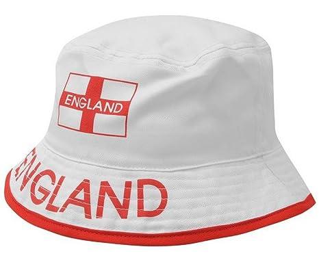 England Bucket Hat - White - One size  Amazon.co.uk  Clothing 1691ceef845