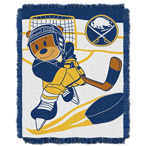 Officially Licensed NHL Buffalo Sabres Score Woven Jacquard Baby Throw Blanket, 36