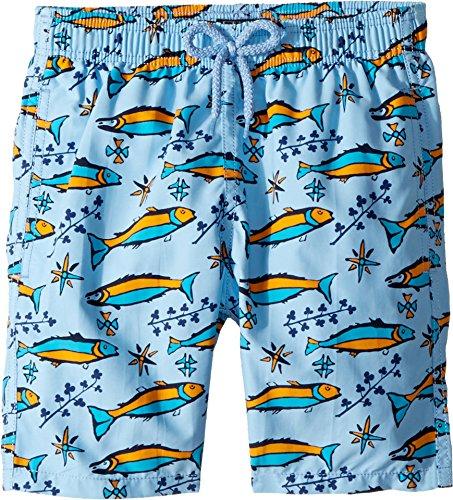 Vilebrequin Kids Boy's Sardines À L¿Huile Swim Trunk (Big Kids) Blue 14 Years by Vilebrequin Kids