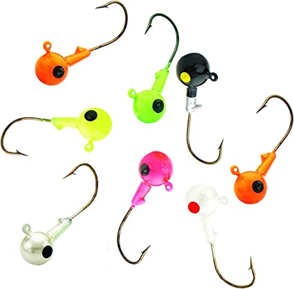 3 pk Northland Tackle Stand-up Fire-Ball Jig GLOW RAINBOW 1//4 oz