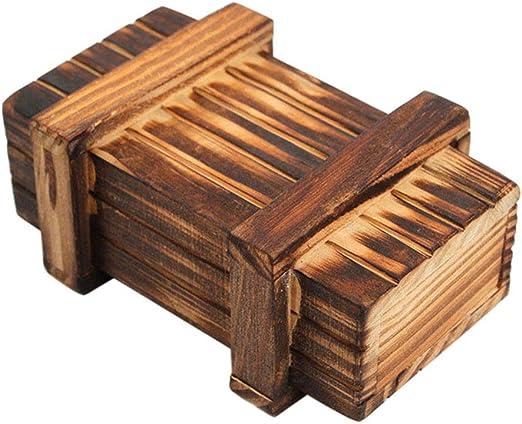 Domeilleur Caja de rompecabezas de madera juguetes Intellegence ...