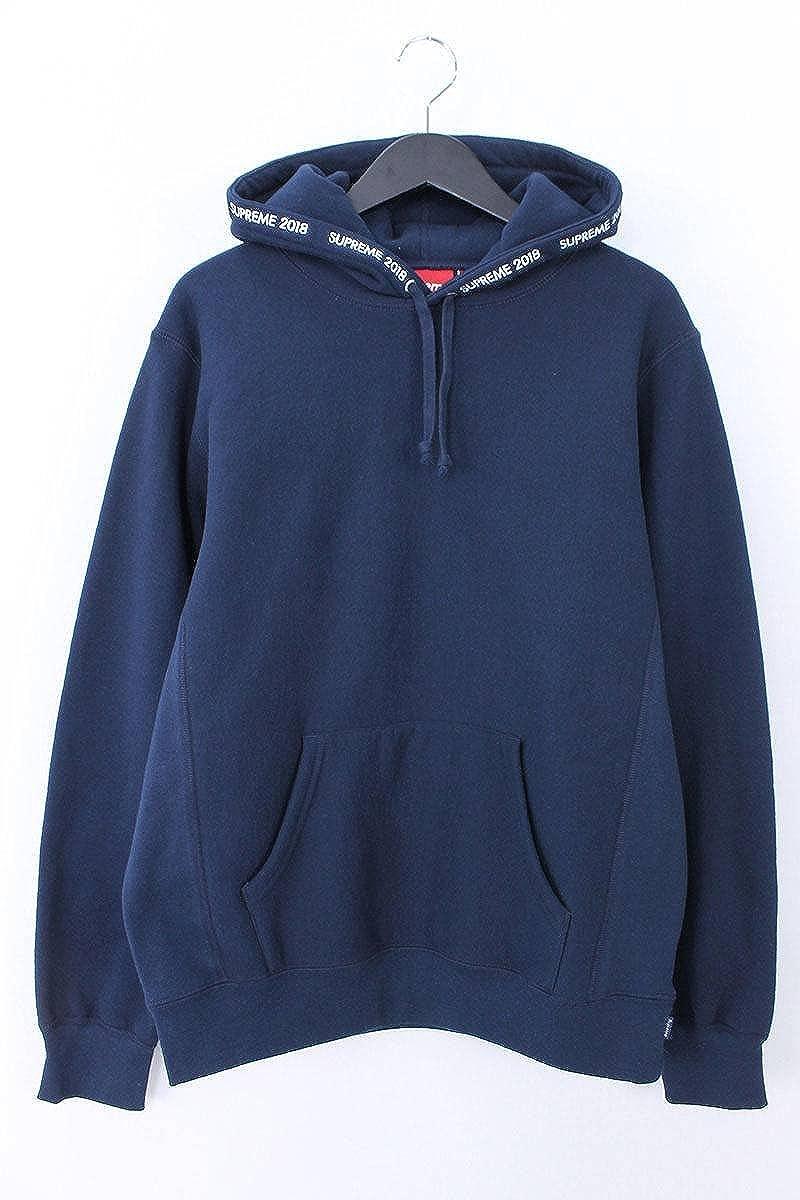 (シュプリーム) SUPREME 【18SS】【Channel Hooded Sweatshirt】チャネルロゴプルオーバーパーカー(M/ネイビー) 中古 B07DH6GRLS