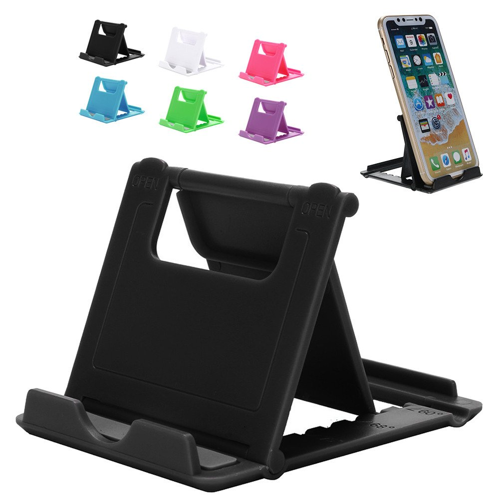 Tuscom Durable Adjustable Portable Foldable Universal Cell Phone Desk Table Desktop Stand Holder, 7X8X0.5cm Durable Practical Lightweight (Black) by Tuscom@ (Image #3)