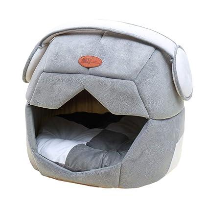 2 En 1 Casa Y Sofá para Mascotas, Lavable A Máquina Desmontable Nido Cueva Cama