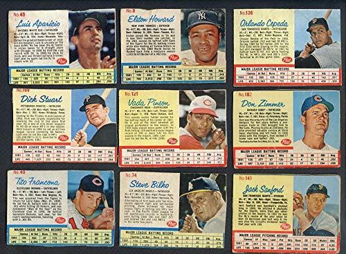 1962 Post Baseball Lot 17 Diff GD-VG w Aparicio Cepeda Pinson 353678 Kit Young ()