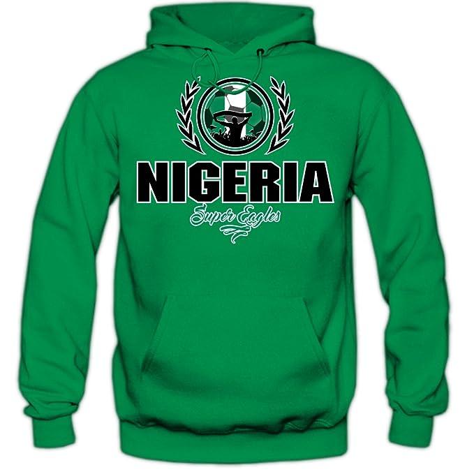 Fútbol Nigeria V2 Sudadera con Capucha | Hombre | Fútbol | Equipo ...
