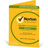 Norton Security Standard 2018 | 1 Device | 1 year | Antivirus included | PC|Mac|iOS|Android | Download