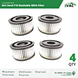 Dirt Devil Washable F15 Filters - 4 Pack - Fits All Dirt Devil Quick Vac Models - Similar to Part # 1-SS0150-000, 3-SS0150-001 or 3SS0150001 - Made by ZVac