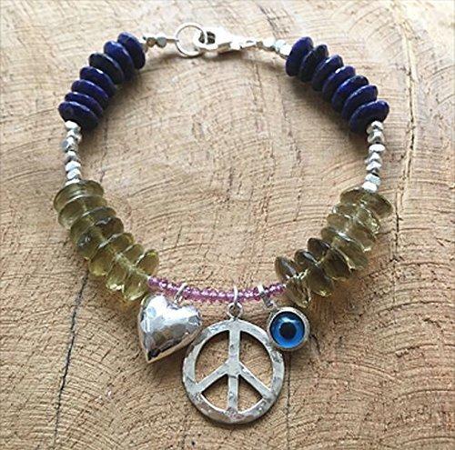 Peace Bracelet | Love Bracelet | Evil Eye Bracelet | (Karen Hill Tribe Silver 4mm)
