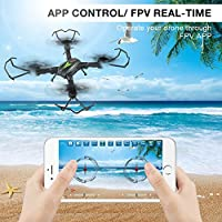 AKASO A200 WiFi Foldable Quadcopter Drone with 720P HD 2MP Camera FPV APP Live Video 6-Axis Gyro 2.4GHz One Key Return RC Drones for Kids Beginners Adults by AKASO