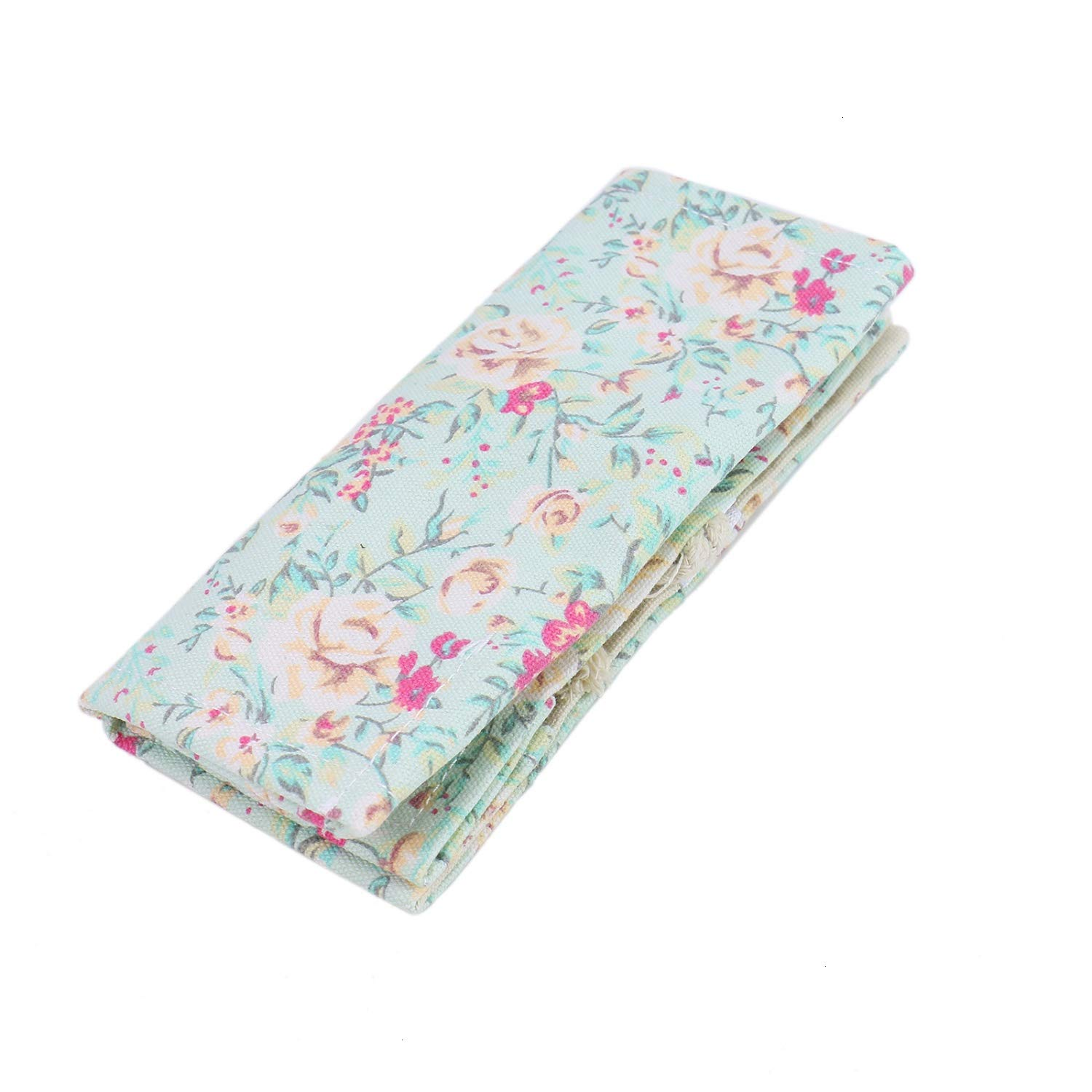 Monrocco Paint Brush Holder 24 Slots Flower Roll Up Pen Holder Canvas Pouch Bag for Artist Travel Drawing