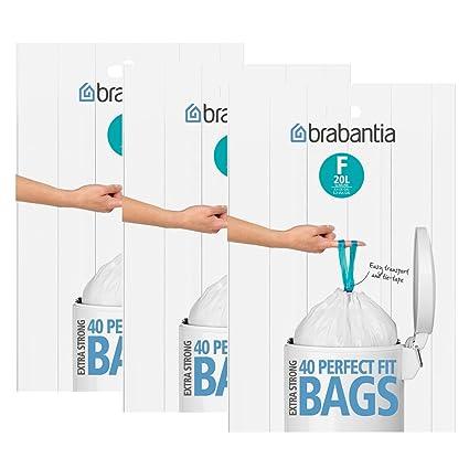 Brabantia - Bolsas de basura (3 cajas de 40 unidades, tipo F ...