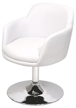 Febland Bucketeer Swivel Dining Chair Faux Leather White  sc 1 st  Amazon UK & Febland Bucketeer Swivel Dining Chair Faux Leather White: Amazon ...