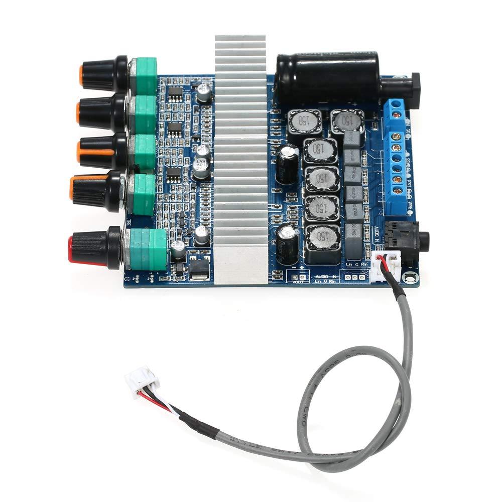 100W 50W Leepesx DC12V ~ 24V TPA3116D2 Subwoofer-Digitalverst/ärkerplatine Stereo-Audio-Modul mit Lautst/ärkepotentiometer 2