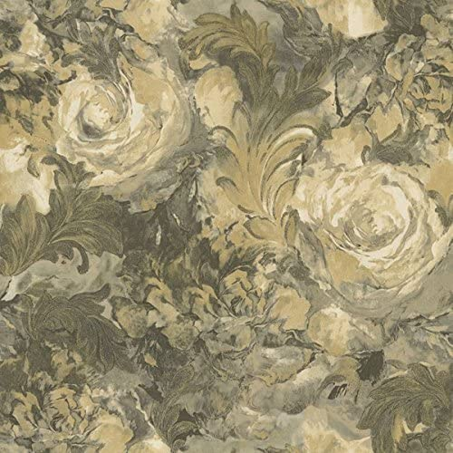 Rc14020 Roberto Cavalli Beige Black Gold Glitter Floral Flowers Wallpaper Amazon Co Uk Diy Tools
