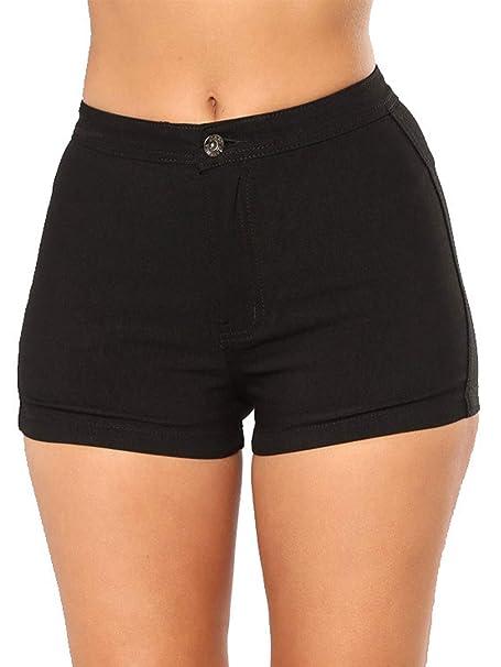 3f2d310469 Govc Women's High Waisted Jean Shorts Casual Summer Juniors Solid Color  Cotton Denim Short Jeans