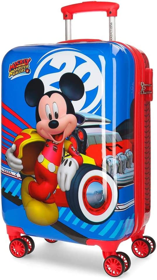 Disney Maleta de cabina Mickey World rígida 55cm, Multicolor