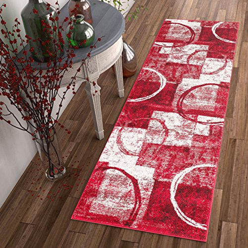 dreamy-shapes-circles-red-modern-geometric-boxes-2-x-7-23-x-73-runner-area-rug-easy-clean-stain-fade