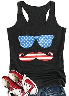 26a024e22a89d6 JINTING Women Vintage American Flag Print Casual Tank Top Summer Vest T- Shirt