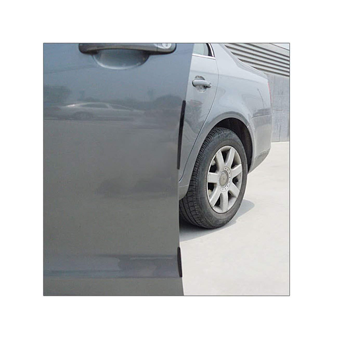 Negro LasVogos 8pcs del Coche SUV Puerta Lateral Protector de Borde de Banda de protecci/ón Raspe la Guardia paragolpes asa de la Cubierta Negro Blanco Transparente