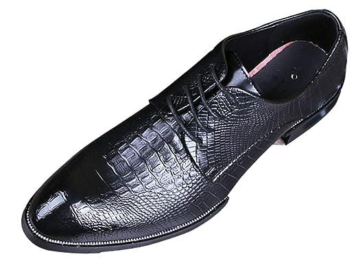 Herren Derby Schuhe Nachahmung Krokodilleder Business Casual