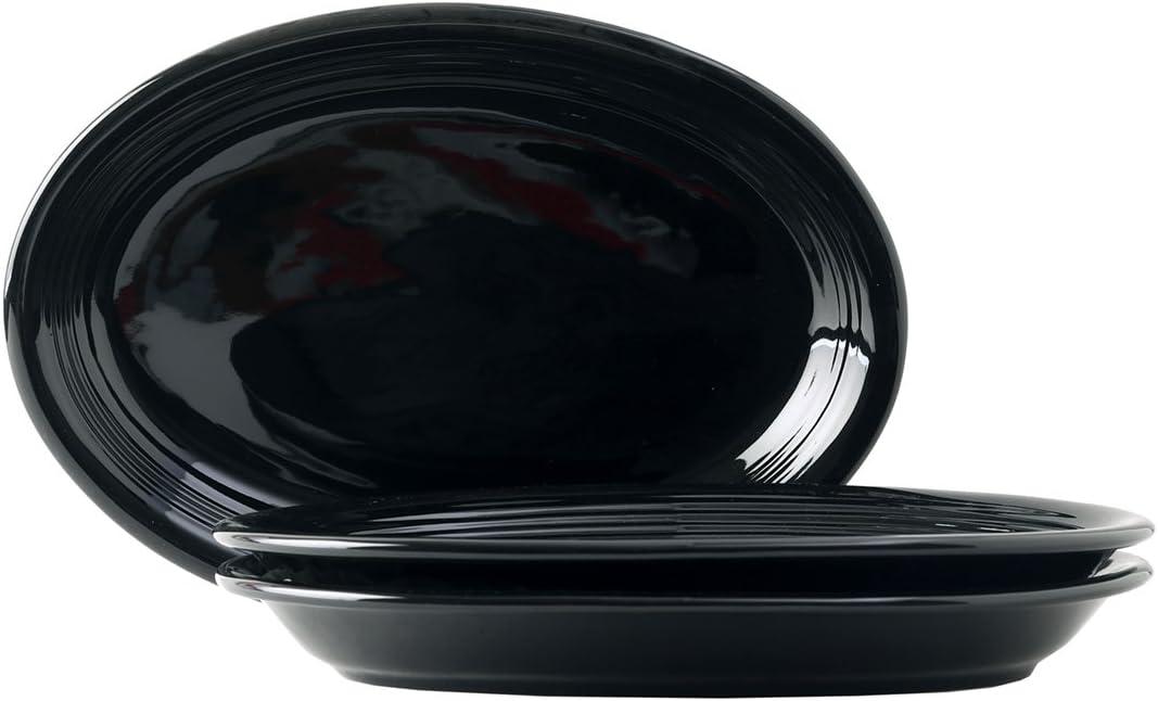 Tuxton Home Concentrix Oval Platter (Set of 3), Coupe 13 1/2