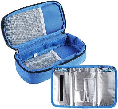 Portátil Bolsa Diabética, Enfriador De Insulina Bolsa Estuche De Viaje Para De La Insulina Y Otros Medicina,Blue: Amazon.es: Salud y cuidado personal