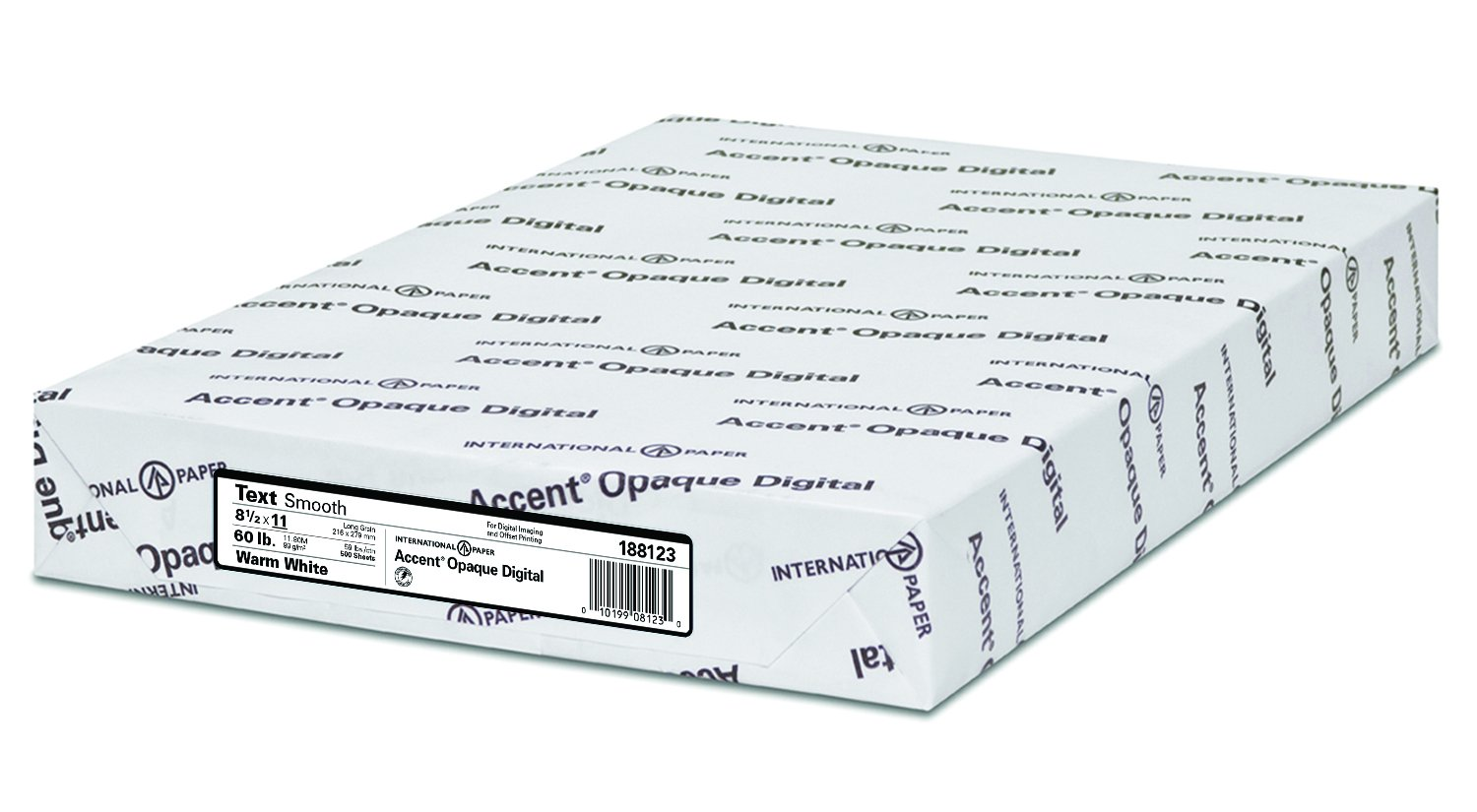 Accent Opaque, Smooth Cover White, 80lb, Ledger, 11 x 17, 97 Bright, 200 Sheets / 1 Ream, Made in The USA