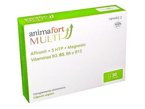 Niam Laboratorios Animafort MULTI Cápsulas Vegetales con Afron, 5-HTP, Magnesio y Vitaminas