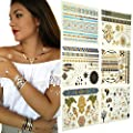 AUTHENTIC EGYPTIAN & NATIVE AMERICAN inspired Metallic Temporary Tattoos - 100+ designs by GleeGoods