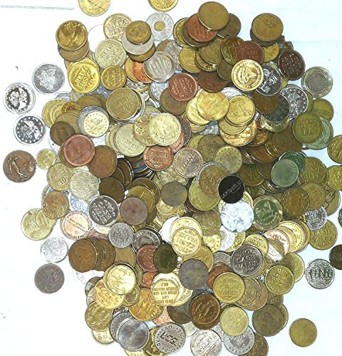- OLD TOKENS, CAR WASH , ARCADE, CASINO, TRANSIT, FARE, VENDING, VACUUM, CARNIVAL, POPE,...1 FULL POUND OF MIXED TOKENS