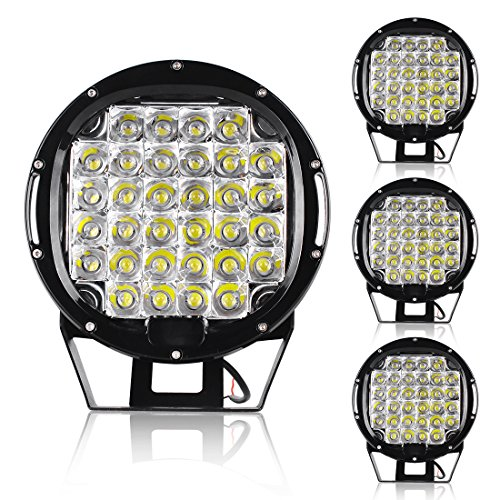 4PACK Off Road Pod Lights 9'' Waterproof Round Mount Bumper 120W 12000Lumens Spot Work Light Bars 4WD Driving Lamps 12V by AUTOSAVER88
