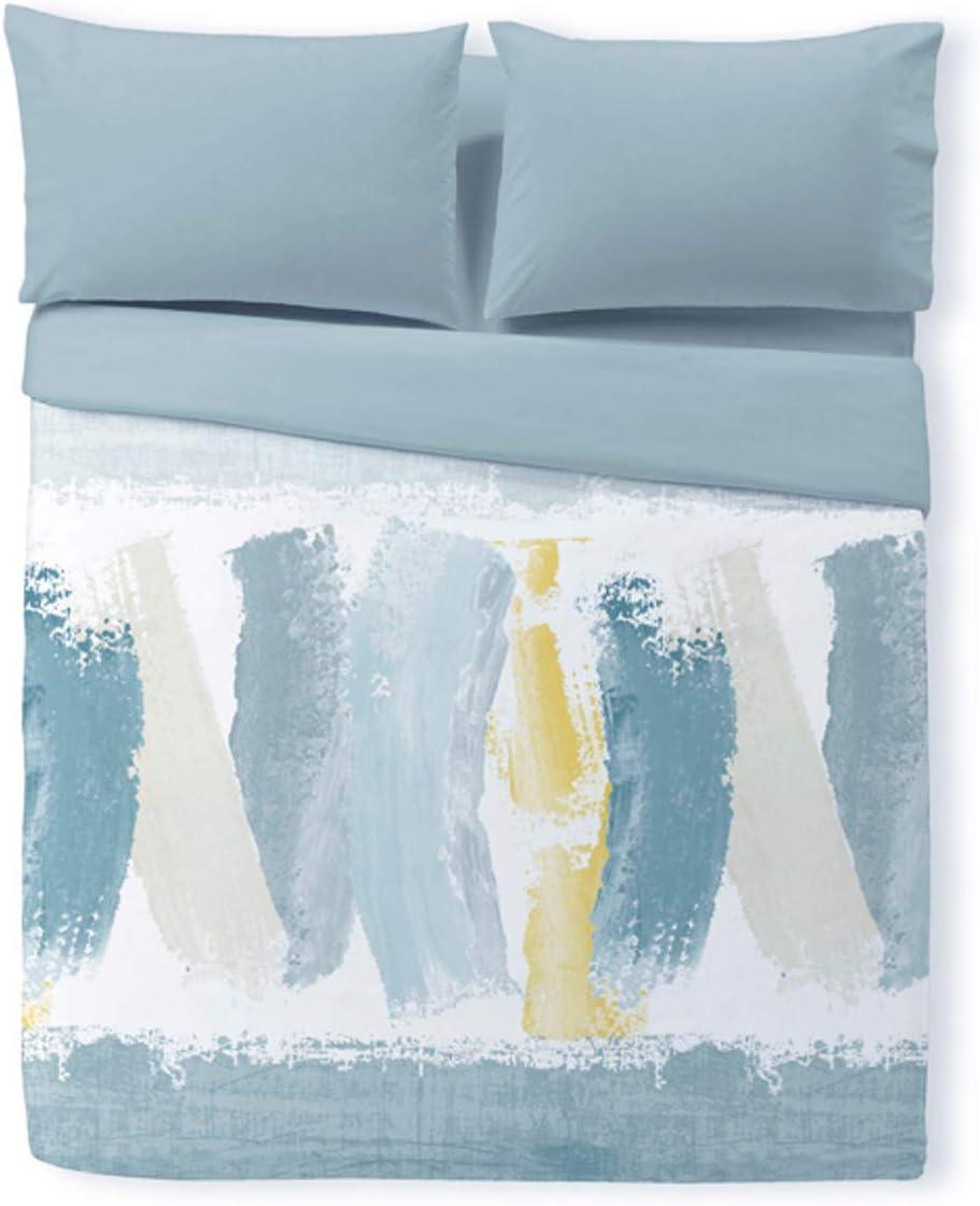 Reig Marti Funda nórdica Estampada Tres Piezas Plymouth Cama de 90 Color Azul