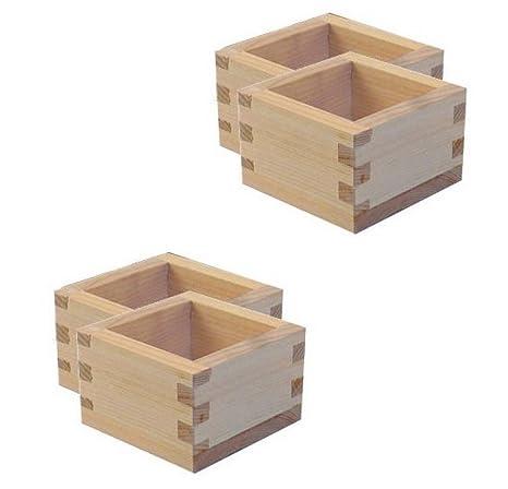 Happy Sales Hssc Wd  Masu Large Wooden Sake Cup