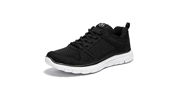 ae8f5dba9a9 NewDenBer NDB Men s Lightweight Lace-up Fashion Sneakers Comfortable Go  Easy Athletic Running Jogging Walking Shoes (8.5 D(M) US