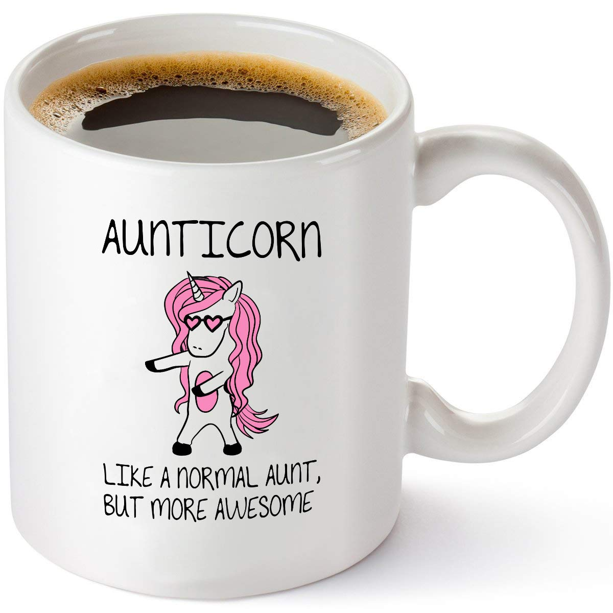 Aunticorn Funny Coffee Mug – Aunt Ever Gifts from Niece or Nephew – Birthday or Mothers Day Idea - 11 oz Tea Cup White