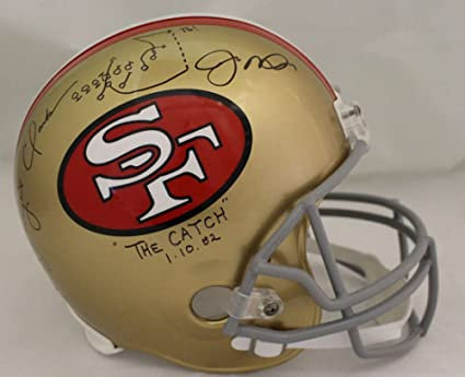be0e552e6c6 Image Unavailable. Image not available for. Color  Joe Montana Dwight Clark  Signed San Francisco 49ers ...