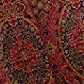 Red Multi Persian Floral Jacquard Home Decorating Fabric, Fabric by The Yard