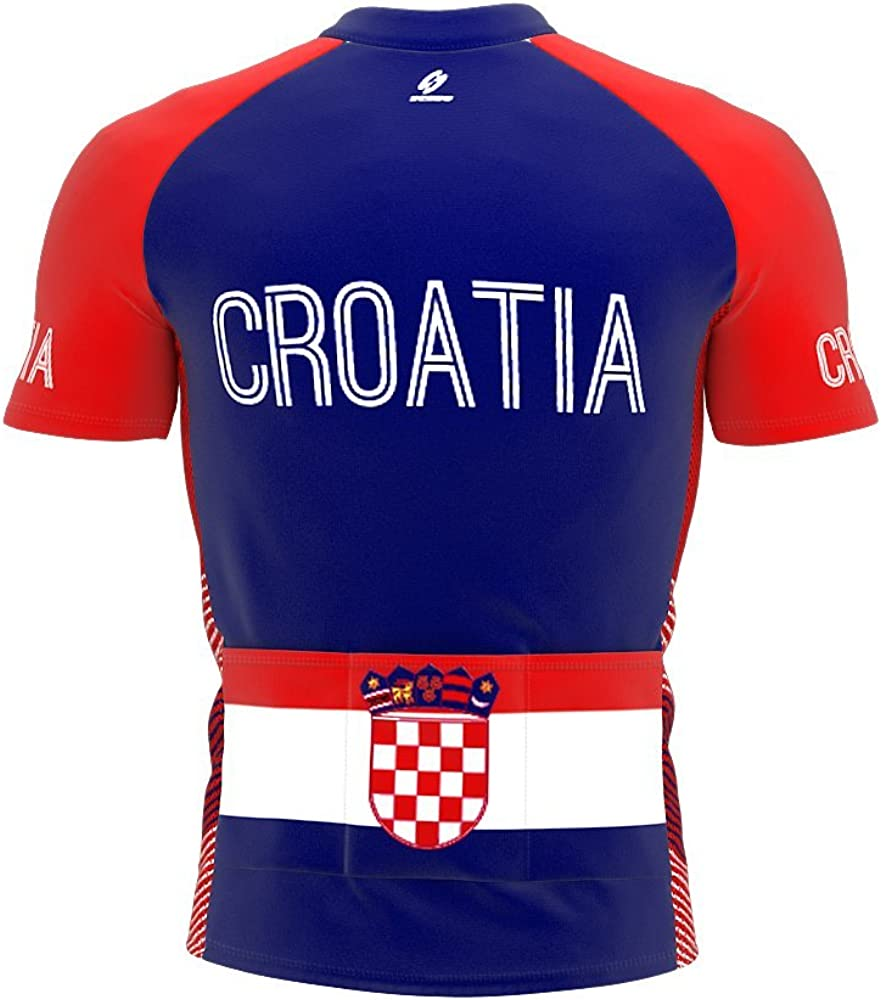 ScudoPro Croatia Full Zipper Bike Short Sleeve Cycling Jersey for Men