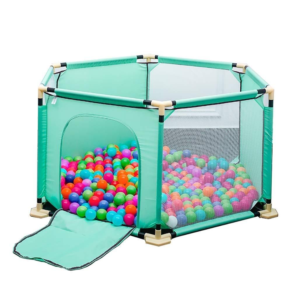 PNFP 赤ちゃんのベビーサークル安全遊び場、ポータブル六角形屋内子供の遊びフェンスキッズアクティビティセンターゲームフェンス   B07V1NQD3S