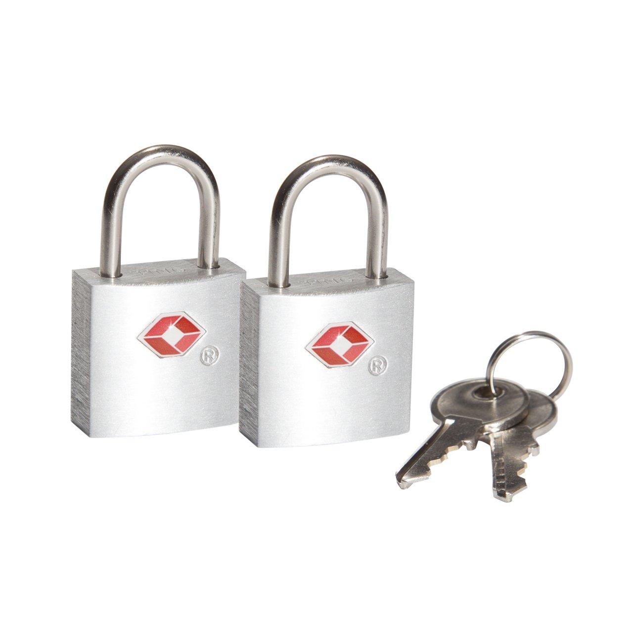 Plata Plateado Safe /& Sound Candado para Equipaje - SA6044