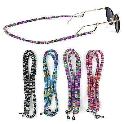 4 piezas Coloridas correa para anteojos para gafas de sol y anteojos para leer anteojos anteojos anteojos correa para anteojos soporte para anteojos para cadenas cordón de cadena: Belleza