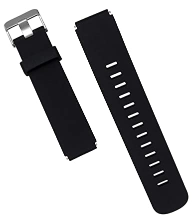 WayLand Michael Kors Access Runway Band Strap,18mm Replacement Smartwatch Band for Michael Kors Access Runway, 18mm Classic Silicone Band Strap for MK ...