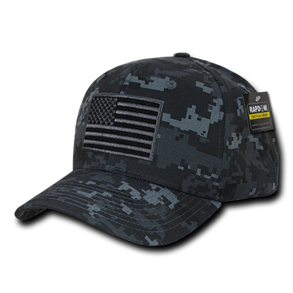 3db0f1d99ef Amazon.com  RAPDOM Tactical T76-USA-BLK Embroidered Operator Cap ...
