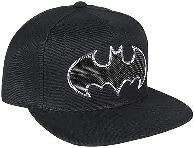 ARTESANIA CERDA Gorra Visera Plana Black Batman, Negro (Negro ...